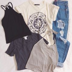 Brandy Melville. Layout my outfit