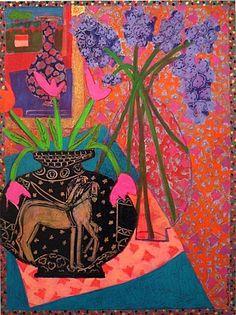 Denise Regan   Green Vase with Lilacs   Markel Fine Arts