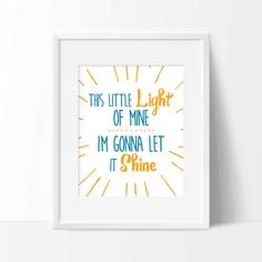 """""""This Little Light Of Mine"""" Print {Digital} by Whitehall Shop on Etsy"""