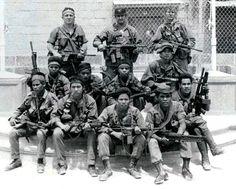 MACV-SOG team RT Montana, March 1971. Photo taken by U.S. SOG soldier Matt Beyeler. ~ Vietnam War