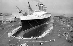 United States Lines UNITED STATES in dry dock