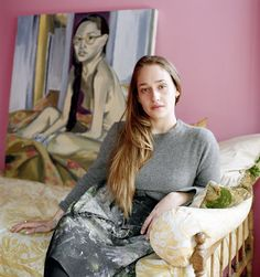 On View | Jemima Kirke's Paintings of Girls. Jemima Kirke at home in her Brooklyn brownstone, where the basement doubles as a painting studio.