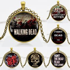 Find More Pendant Necklaces Information about The Walking Dead Logo Bronze Chain Women Choker Statement Bronze Pendant Necklace For Men Dress Accessories DF9303,High Quality necklace cheap,China necklace coral Suppliers, Cheap necklace mother from DreamFire Store on Aliexpress.com
