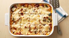 A perfect make-ahead meal, this luscious lasagna recipe assembles easily in 20 minutes and is refrigerated for baking later.