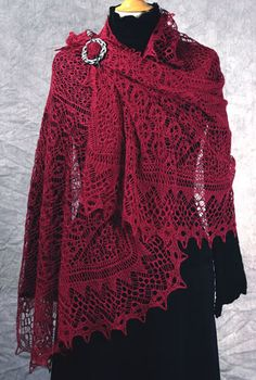 Fiddlesticks Knitting Misty Vales Stole Lace Knitting Pattern