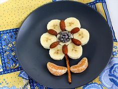 adorable, fun, and healthy kids snacks - fruit flower.