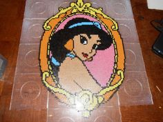 Disney Princess Jasmine hama perler beads (18 pegboards) by  hardy8676