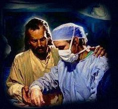My Healer ~ Jesus ~ control of all! Jesus, my doctor in the operating room! New Quotes, Bible Quotes, Inspirational Quotes, Jesus Reyes, Jesus Pictures, Jesus Pics, God Jesus, Christian Art, Faith In God