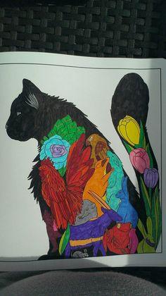 Mandala chat noir by Charlie-Audern