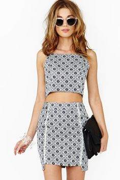 Lotus Skirt and Crop Top from nastygal.com