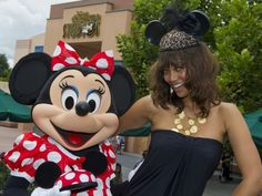 Leave it to Tyra Banks to make a pair of Mickey Mouse ears looks like something off the red carpet. Tyra was spotted at Disney's Hollywood Studios in Walt Illuminati, Tyra Banks Show, Disney Couture, Star Track, Mickey Mouse Ears, Hollywood Studios, Celebs, Celebrities, Celebrity Pictures