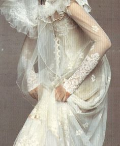 Shalom Harlow in Christian Lacroix by Irving Penn for Vogue US December 1995