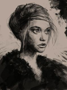 learn how to draw- Portrait study into quick illustration (charcoal)