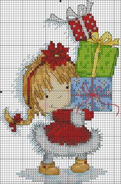 No name - Salvabrani Cross Stitch Stocking, Xmas Cross Stitch, Cross Stitch For Kids, Cross Stitch Kits, Counted Cross Stitch Patterns, Cross Stitch Charts, Cross Stitch Designs, Cross Stitching, Cross Stitch Embroidery