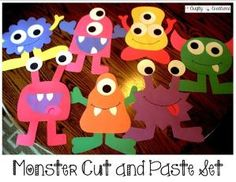 Monster Cut and Paste Set that includes 7 different monsters! Great for a monster classroom theme! by kimberlybeckley