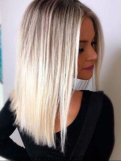 Platinum Balayage Hair Color