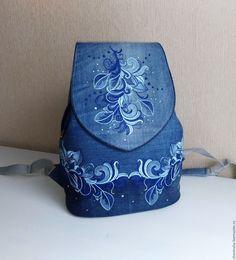 3a9ee43e5310 Купить Рюкзак джинсовый женский Зимние узоры - рюкзак, рюкзак женский, рюкзак  ручной работы