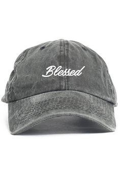 ff77f49b686 Blessed Cursive Custom Unstructured Dad Hat Adjustable Cap New-Black Denim