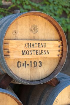 Wine barrel close up at Chateau Montelena #wsroadtrip