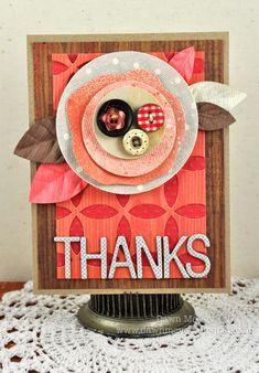 Thank you card made by Dawn McVey (using @Studio Calico Handmade kit)