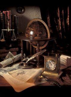 Jimmys fina skrivbord/vårt gamla bakbord! Fantastisk inspiration att inreda med!: