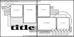 Nov2012MSC-Week2BonusSketch! - Scrapbook.com  Double page with 5 photos (2 4x6 & 3 4x4)