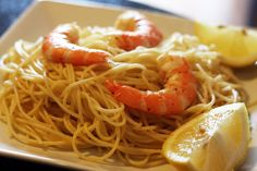 garlic-shrimp-lemon-pasta (Can try with Spaghetti Squash or Shredded zucchini or whole wheat pasta)