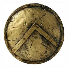 """The Spartan shield . The Λ (lambda) stood for Laconia their homeland. Not only did it protect the user, but it also protected the whole phalanx formation. To come home without the shield was a mark of disgrace. Rrhipsaspia or """"dropping the shield"""", was a synonym for desertion in the field.  Other Greeks often changed the image for every battle or occassion to strike fear in their enemy. (prob. a replica)"""