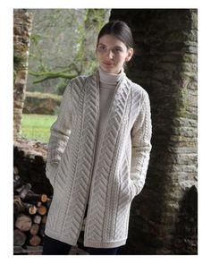 Aran Style 3/4 Length Coat