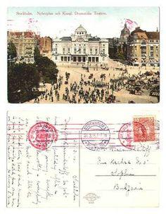 WWI Sweden Stockholm Royal Theater postcard
