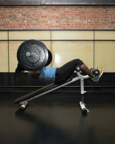 17. Barbell Sit-Up With Chest Press #abs #workout #exercises http://greatist.com/move/abs-workout-most-effective-core-moves-to-do-at-the-gym