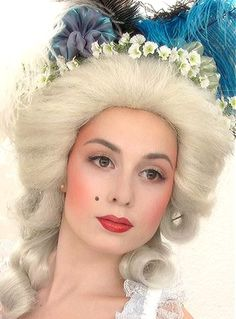 Image discovered by Ʈђἰʂ Iᵴɲ'ʈ ᙢᶓ. Find images and videos on We Heart It - the app to get lost in what you love. Rococo Fashion, Victorian Fashion, Victorian Makeup, Theatrical Makeup, 18th Century Fashion, Period Costumes, Female Images, Marie Antoinette, Historical Clothing