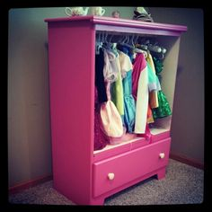 Furniture redo- Dress Up: I could do this in black or navy for the boy.