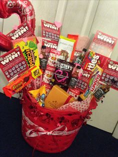 Valentine S Day Basket For Him Diy Pinterest Valentines