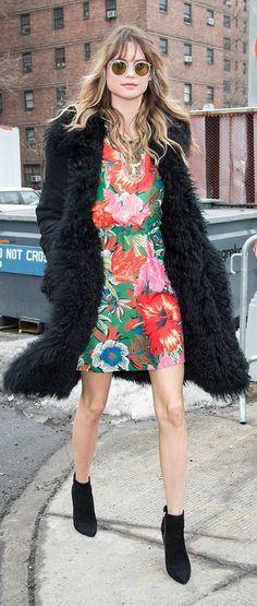 Behati Prinsloo at Fashion Week.