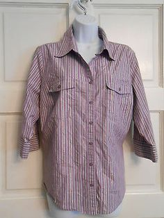 womans top shirt sz 18/20w stretch button front casual