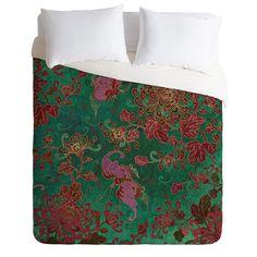 Belle13 Chrysanthemum Garden Duvet Cover   DENY Designs Home Accessories