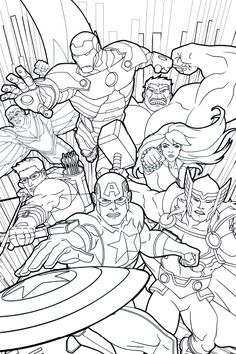 Free Kids Coloring Pages, Cartoon Coloring Pages, Disney Coloring Pages, Coloring Pages To Print, Coloring Book Pages, Printable Coloring Pages, Avengers Coloring Pages, Superhero Coloring Pages, Spiderman Coloring