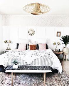 Boho minimal bedroom