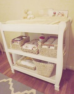 Nursery White Changing Table