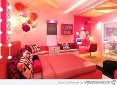 Girls+in+Beautiful+Dream+Room 20 Pretty Girls' Bedroom Designs Home Design Lover Girls Bedroom, Teenage Girl Bedroom Designs, Teenage Girl Bedrooms, Bedroom Decor, Teen Rooms, Bedroom Furniture, Bedroom Interiors, Pink Bedrooms, Modern Bedrooms