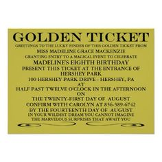 Willy Wonka Golden Ticket Invitation Template was Elegant Layout To Create Amazing Invitations Template