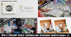 Win A Dreamy Bible Journaling Giveaway Worth Over $400!