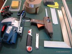 matériel pour fabriquer un meuble en carton