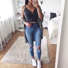 teen fashion outfits, outfits for teens, jean outfits, casual outfits, Tumblr Outfits, Mode Outfits, Jean Outfits, Casual Outfits, Teen Fashion Outfits, Outfits For Teens, 90s Fashion, Fashion Ideas, High School Outfits