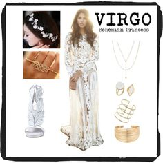 VIRGO - Bohemian Princess by redcarpetlook on Polyvore featuring HEATHER BENJAMIN, Aurélie Bidermann, Jennifer Zeuner, Eloquii and Topshop