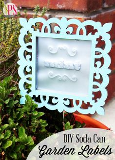 DIY Soda Can Garden Labels with @Michaels Stores #relove