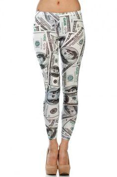LoveMelrose.com From Harry & Molly | Money Print Leggings