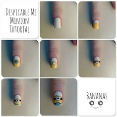 19 Minion Nails - Awesome tutorial for minion nails.