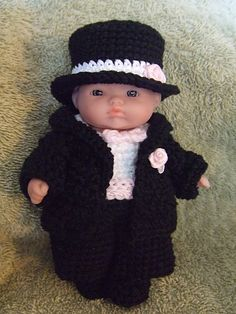 Ravelry: Little Groom Tuxedo for 5 Inch Berenguer Baby Doll pattern by Amy Carrico